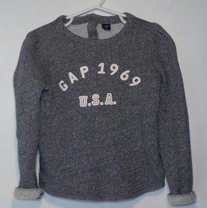 Gap Sweater Girls Size 5 Logo 1969